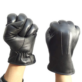 Truck Drivers Leather Driving Gloves Soft Comfortable With Machine Sewing