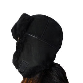 China Cara europeia do dobro do estilo de Ushanka do russo do chapéu do caçador do Shearling da pele dos carneiros do Beanie fábrica